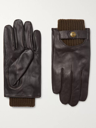 Dents Buxton Touchscreen Leather Gloves - Men - Brown
