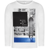 DKNY DKNYBoys Skateboarder White Top