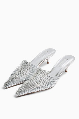 Topshop JUMP Silver Strappy Point Shoes
