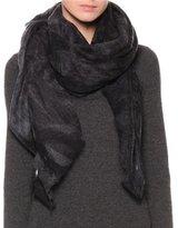 Giorgio Armani Oversize Woven Stole, Black