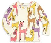 Mini Rodini Little Girl's & Girl's Fawn Printed Organic Cotton Blend T-Shirt
