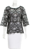 Miguelina Scalloped Crocheted Top