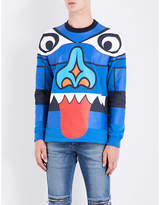 Givenchy Face-print Cotton-jersey Sweatshirt