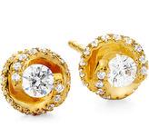 JCPenney FINE JEWELRY 1/2 CT. T.W. Diamond Spiral 10K Yellow Gold Stud Earrings