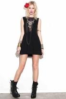 For Love & Lemons Lulu Dress in Polka Dot Black