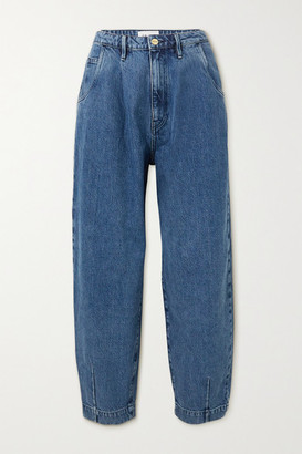 Frame Barrel High-rise Tapered Jeans