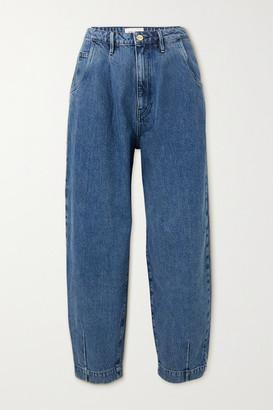 Frame Barrel High-rise Tapered Jeans - Mid denim
