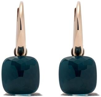 Pomellato 18kt rose & white gold Nudo topaz earrings