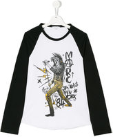 Little Marc Jacobs printed longsleeved T-shirt