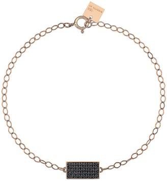 ginette_ny Mini Black Diamond Ever Rectangle Bracelet