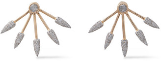 Pamela Love Five Spike 18-karat Rose Gold Diamond Earrings