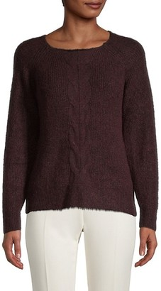 Max Studio Cable-Knit Roundneck Sweater