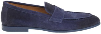 Doucal's Doucals Blue Suede Moccasin