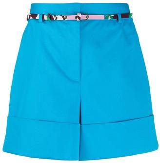Emilio Pucci High-Waist Belted Shorts
