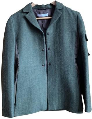 Miu Miu Khaki Tweed Jacket for Women Vintage