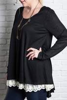Umgee USA Black Lace Tunic