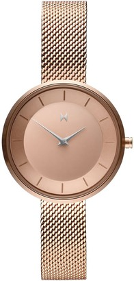 MVMT Womens Analogue Quartz Watch with Gold Tone Stainless Steel Strap D-FB01-RGS
