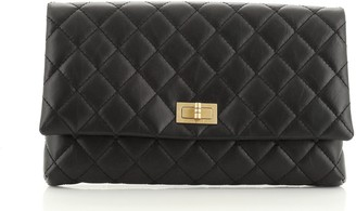 Chanel Reissue 2.55 Flap Clutch Quilted Leather