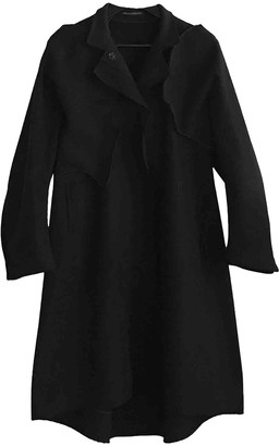 Yohji Yamamoto Black Wool Coat for Women
