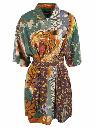 DSQUARED2 Tiger Front Print Dress