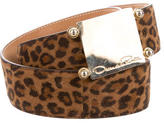 Oscar de la Renta Leopard Print Waist Belt