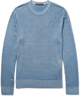 Michael Kors - Slim-fit Washed Merino Wool Sweater