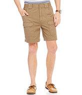 Roundtree & Yorke Casuals Big & Tall Hiking Elastic Waistband Cargo Shorts