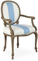 Dana Gibson Bellona Armchair - White/Periwinkle