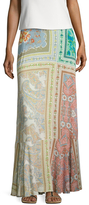 Plenty by Tracy Reese Printed Bow Waist Maxi Skirt