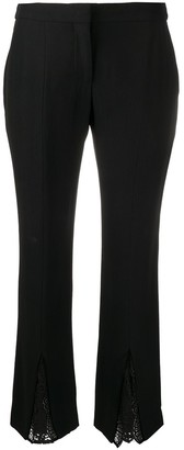 Alexander McQueen Lace-Insert Cropped Trousers