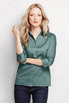 Lands' End Women's Regular 3/4-sleeve Performance Twill Shirt