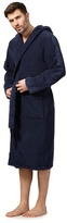 Calvin Klein Navy Hooded Towelling Dressing Gown