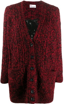 RED Valentino Red Girl embroidery cardigan