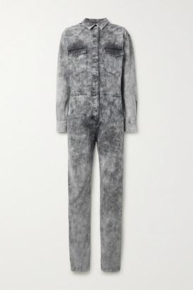 Etoile Isabel Marant Idesia Acid-wash Denim Jumpsuit - Gray