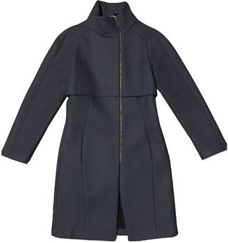 Versace Blue Wool Coat for Women
