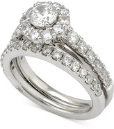 Marchesa Certified Diamond Bridal Set (2 ct. t.w.) in 18k White Gold