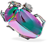 Balenciaga Beetle Iridescent Brass Clip Earring - Gunmetal