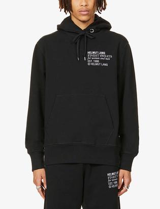 Helmut Lang Finest Sweats logo-print cotton-jersey jogging bottoms