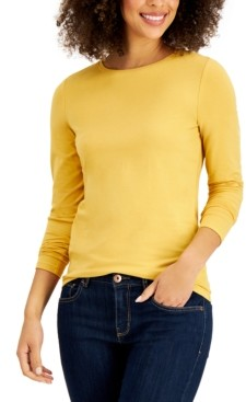 Style&Co. Style & Co Long-Sleeve Top, Created for Macy's