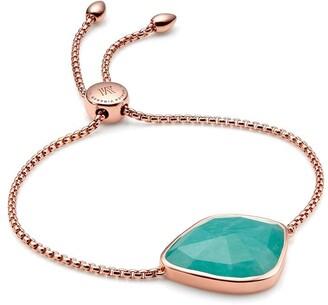 Monica Vinader Siren Nugget Cocktail Chain Amazonite bracelet