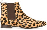 Tory Burch 'Orsay' boots - women - Leather/Pony Fur - 6