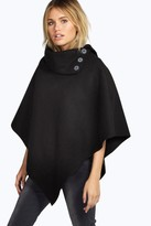 boohoo Julia Cape With Buttons