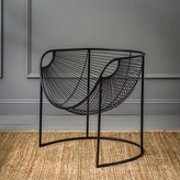 Graham and Green Mulberry Leaf Lounger In Black