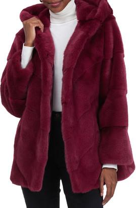 Gorski Chevron Mink Jacket With Hood
