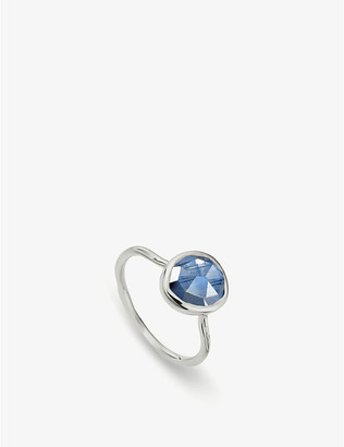 Monica Vinader Siren sterling silver and kyanite medium stacking ring