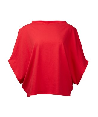 Malaika New York Hexagon Organic Cotton T-Shirt Red