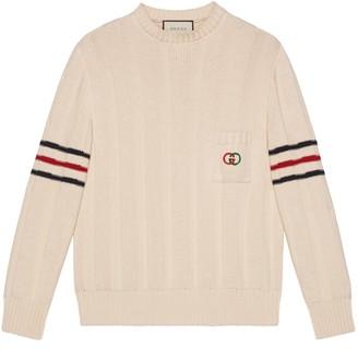 Gucci Knit cotton sweater with Interlocking G
