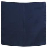 Forzieri Navy Blue Silk Pocket Square