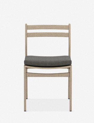 Lulu & Georgia Oleena Indoor / Outdoor Dining Chair, Washed Brown/Charcoal