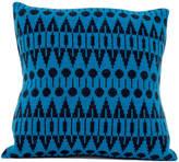 seven gauge studios Dark Indigo + Blue Knitted Folk Cushion
